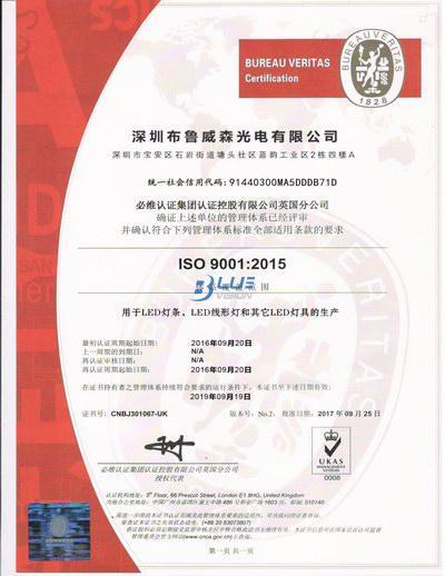 龙8官网 ISO 9001 :2015